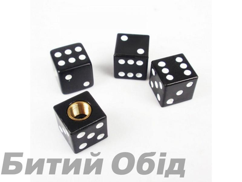 Колпачек на ниппель Кубик (черный)