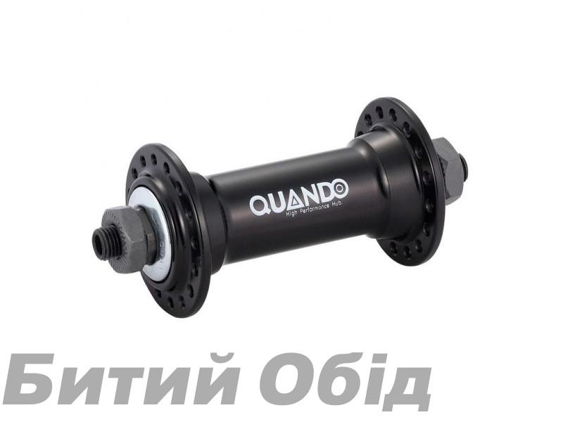 Втулка передняя QUANDO KT-A15F под эксцентрик, черн., на 36 спиц.