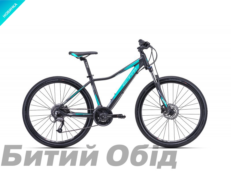 Велосипед CTM Charisma 3.0 (matt black/mint) 2018 года
