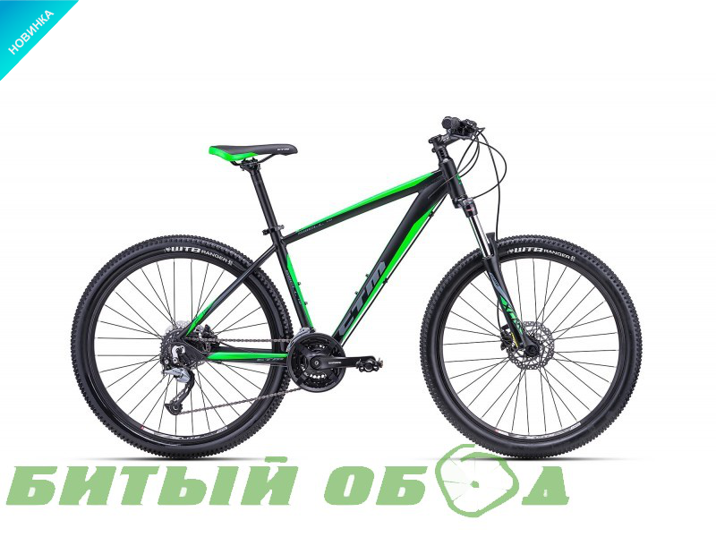 Велосипед CTM Swell 1.0 (matt black/green) 2018 года