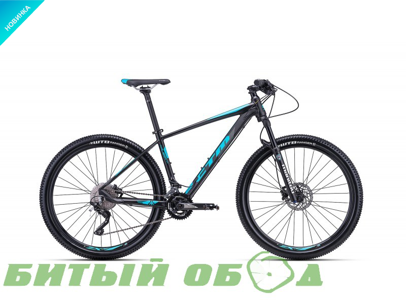 Велосипед CTM Caliber 2.0 (matt black/blue) 2018 года