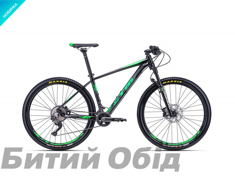Велосипед CTM Caliber 3.0 (black/green) 2018 года