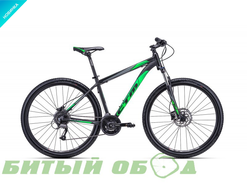 Велосипед CTM Rein 3.0 (matt black/green) 2018 года