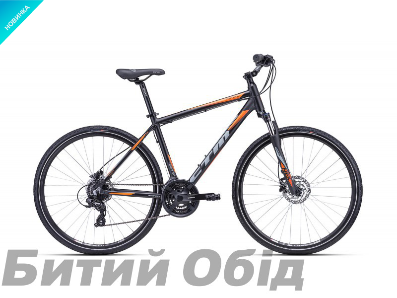 Велосипед CTM Twister 3.0 (matt black/orange) 2018 года