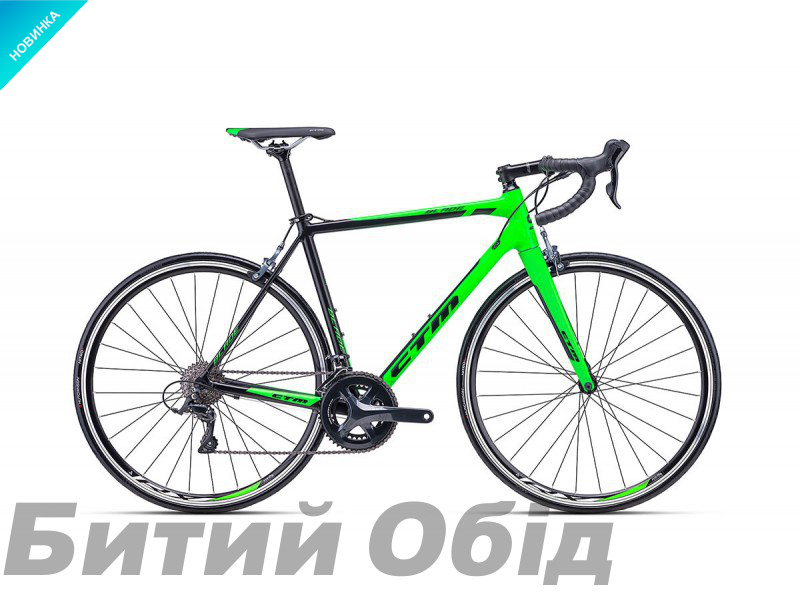 Велосипед CTM Blade 1.0 (matt black/reflex green) 2018 года