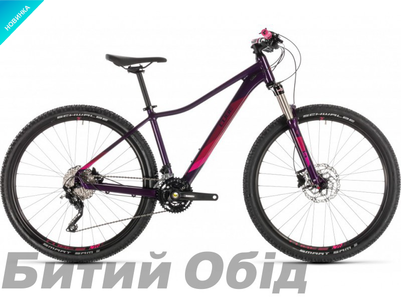 Велосипед Cube ACCESS WS RACE 27.5 (aubergine´n´berry) 2019 года