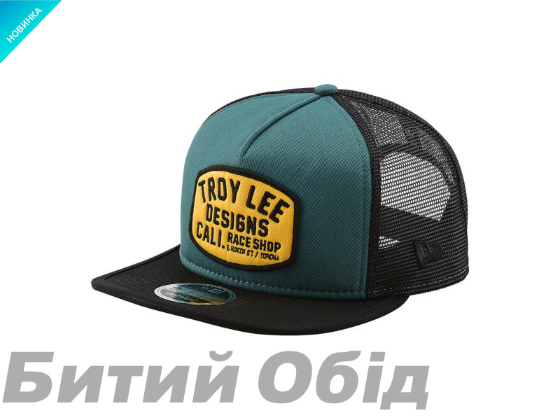 Кепка TLD Blockworks Snapback HAT (PINE NEEDLE GREEN / GOLD)