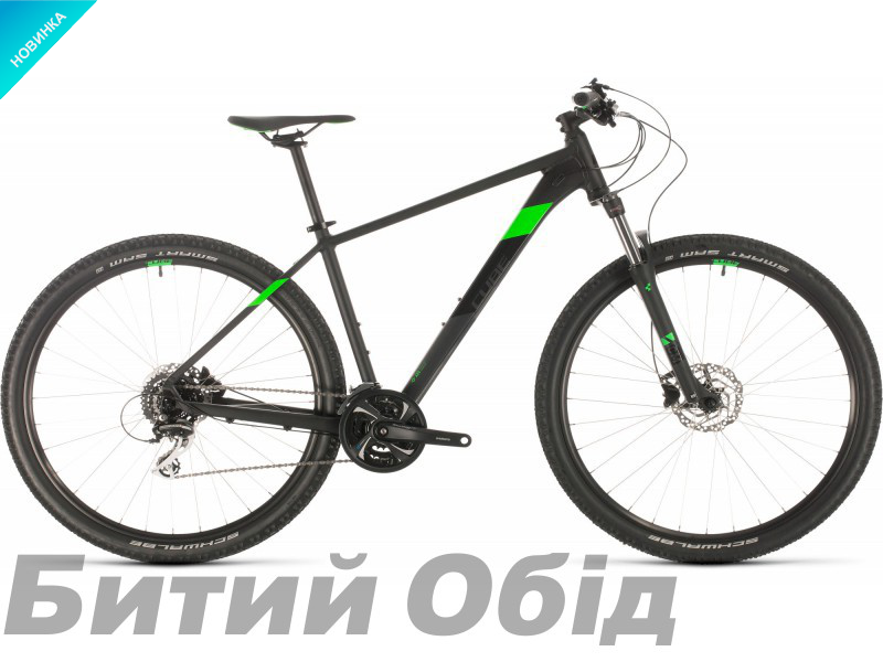 Велосипед Cube Aim RACE 27.5 (black´n´flashgreen) 2020 года