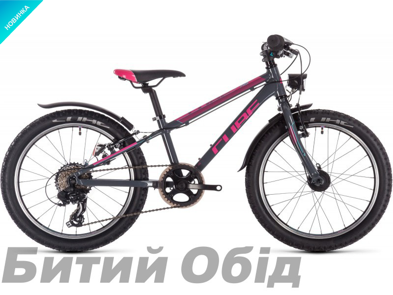 Детский велосипед Cube ACCESS 200 ALLROAD 20 (grey´n´blue´n´pink) 2020 год